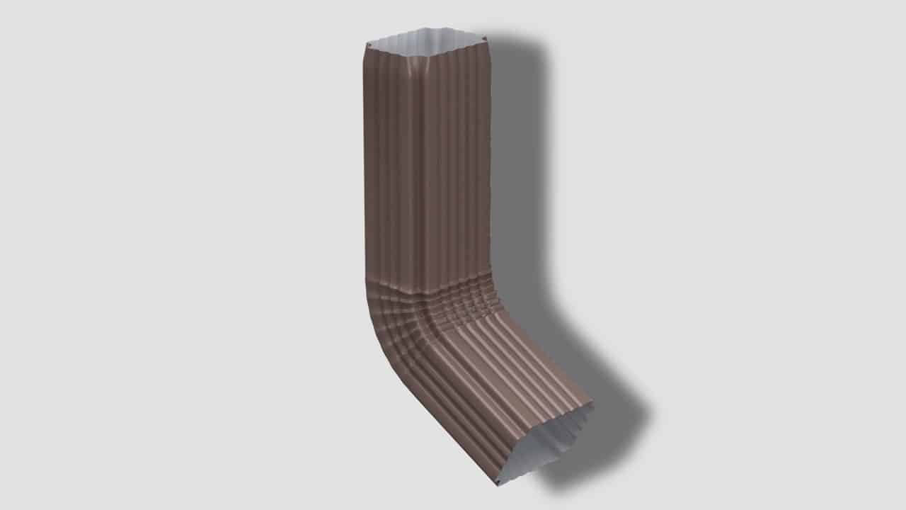 Труба водосточная с коленом 76х102х3000 - Водосток NIKA