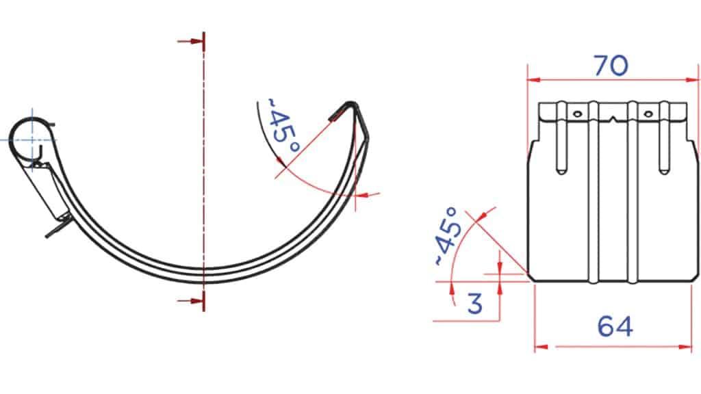 Соединитель желоба D125 чертеж