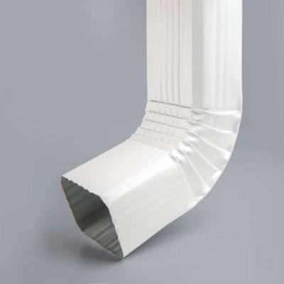 Колено водосточной трубы 76х102 белый