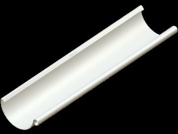 Водосток NIKA - Водосточный желоб D125 Цвет RAL 9001 Кремово-белый (с логотипом)