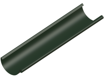 Водосток NIKA - Водосточный желоб D125 Цвет RR 11 Хвойно-зеленый (без логотипа)