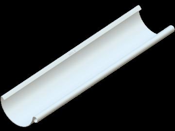 Водосток NIKA - Водосточный желоб D125 RR 20 Белый (с логотипом)