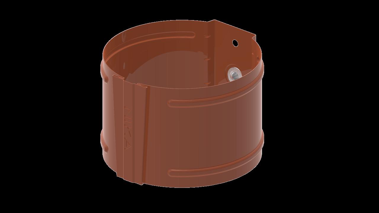 водосточной трубы D на кирпич RAL Медно коричневый
