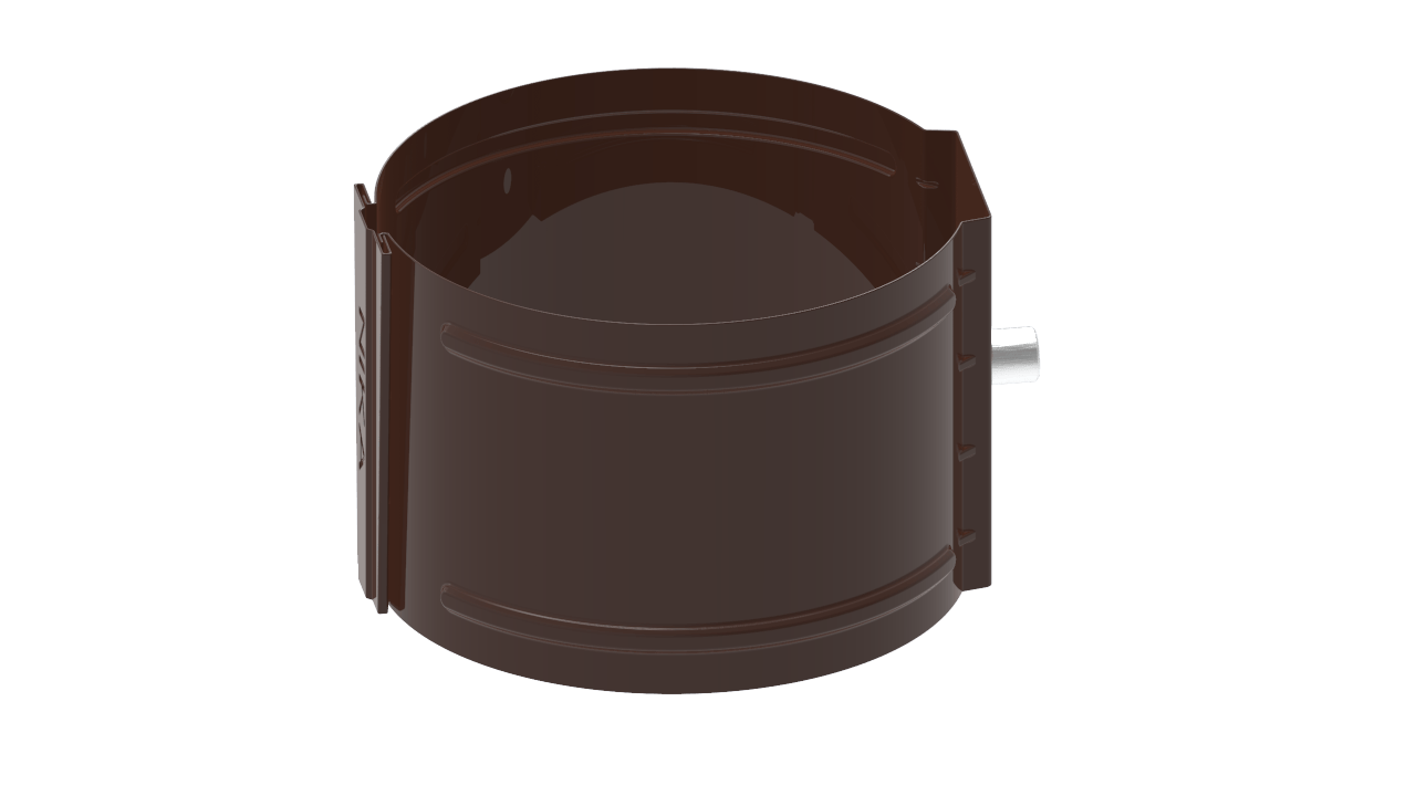 водосточной трубы D на кирпич RAL Шоколад