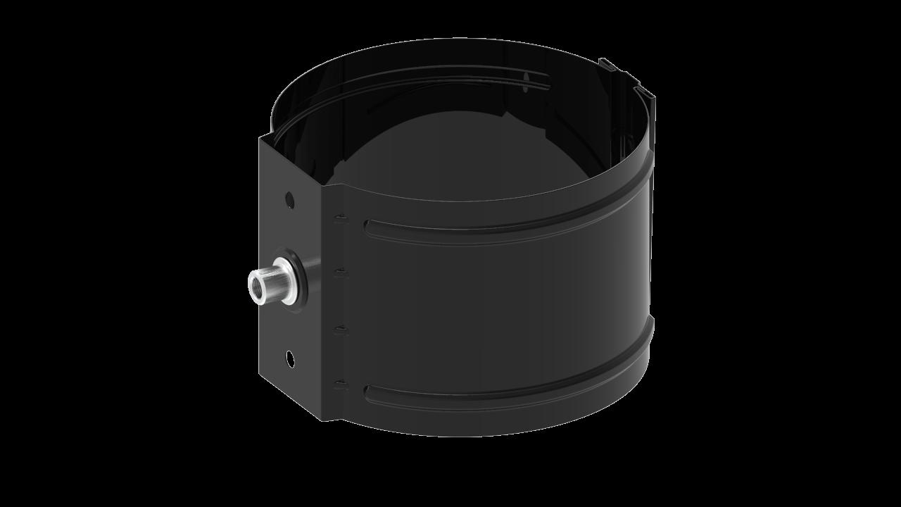 водосточной трубы D на кирпич RAL Глубокий черный