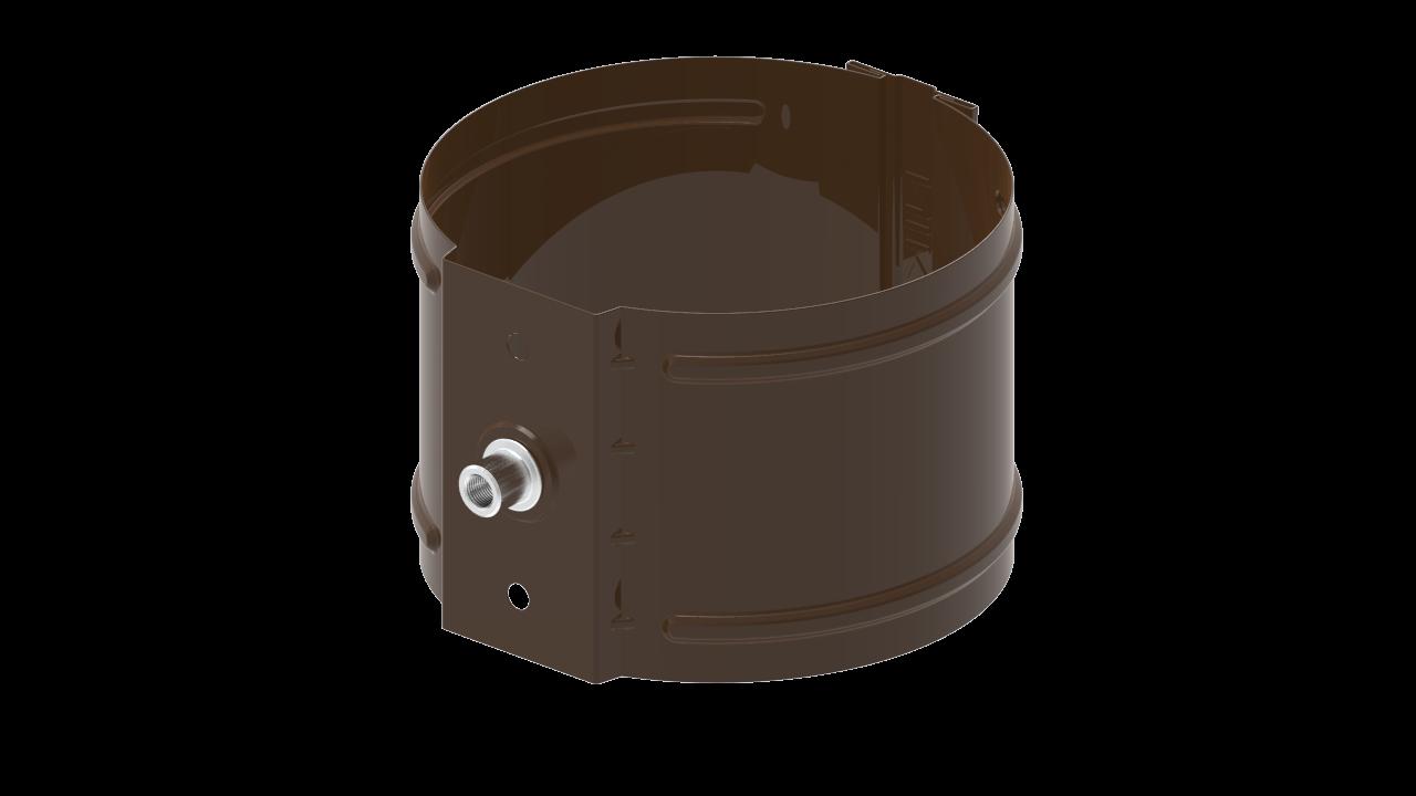 водосточной трубы D на кирпич RR Темно коричневый