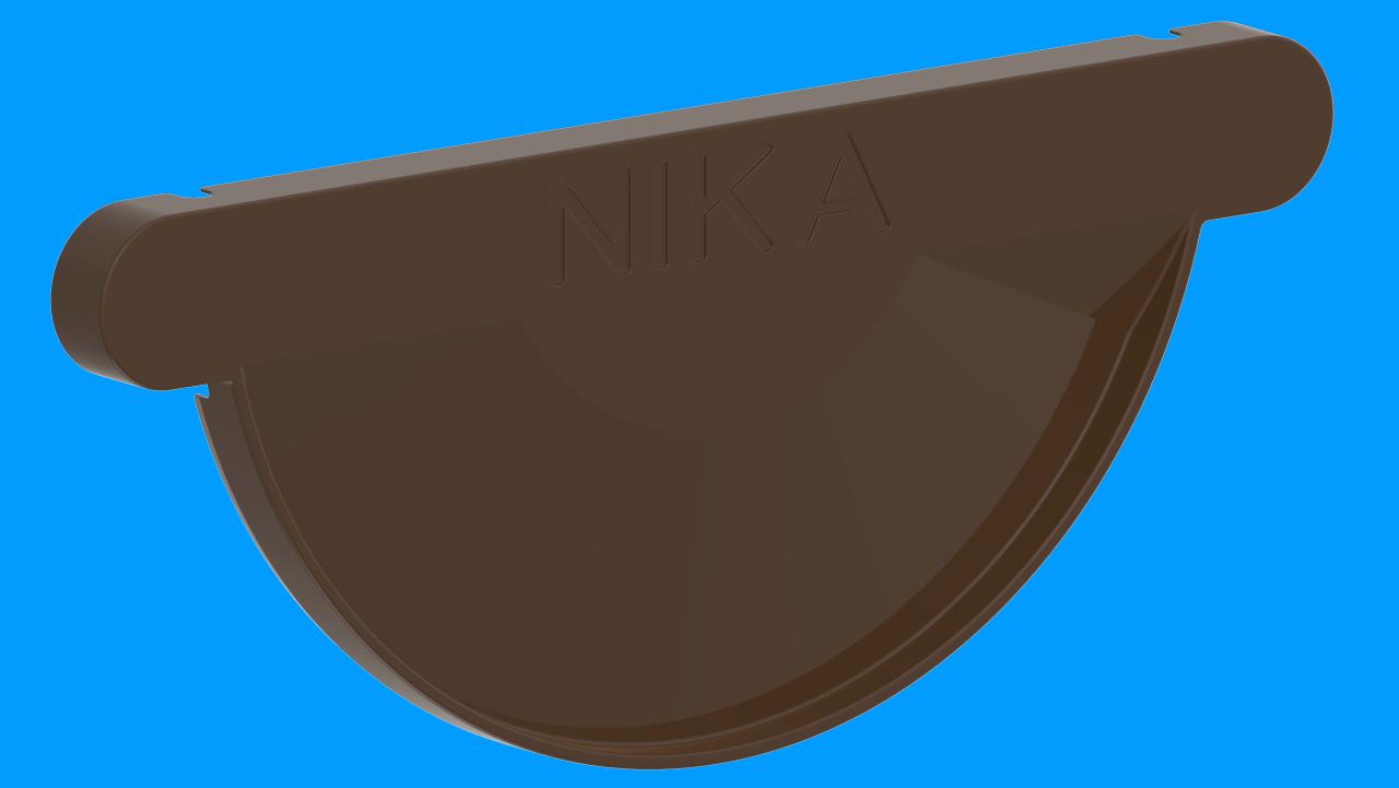 ЗаглушкажелобаDRR Темно коричневыйактивнаякнопка