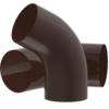 Колено водосточной трубы D100